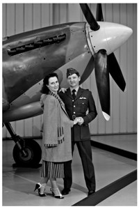 S&G with Spitfire at Museum of Flight