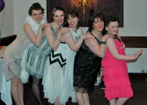 Charleston Ladies at Stornoway Tea Dance. Rouge your knees....