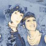 Seema and Susan at a 1920s corporate engagement