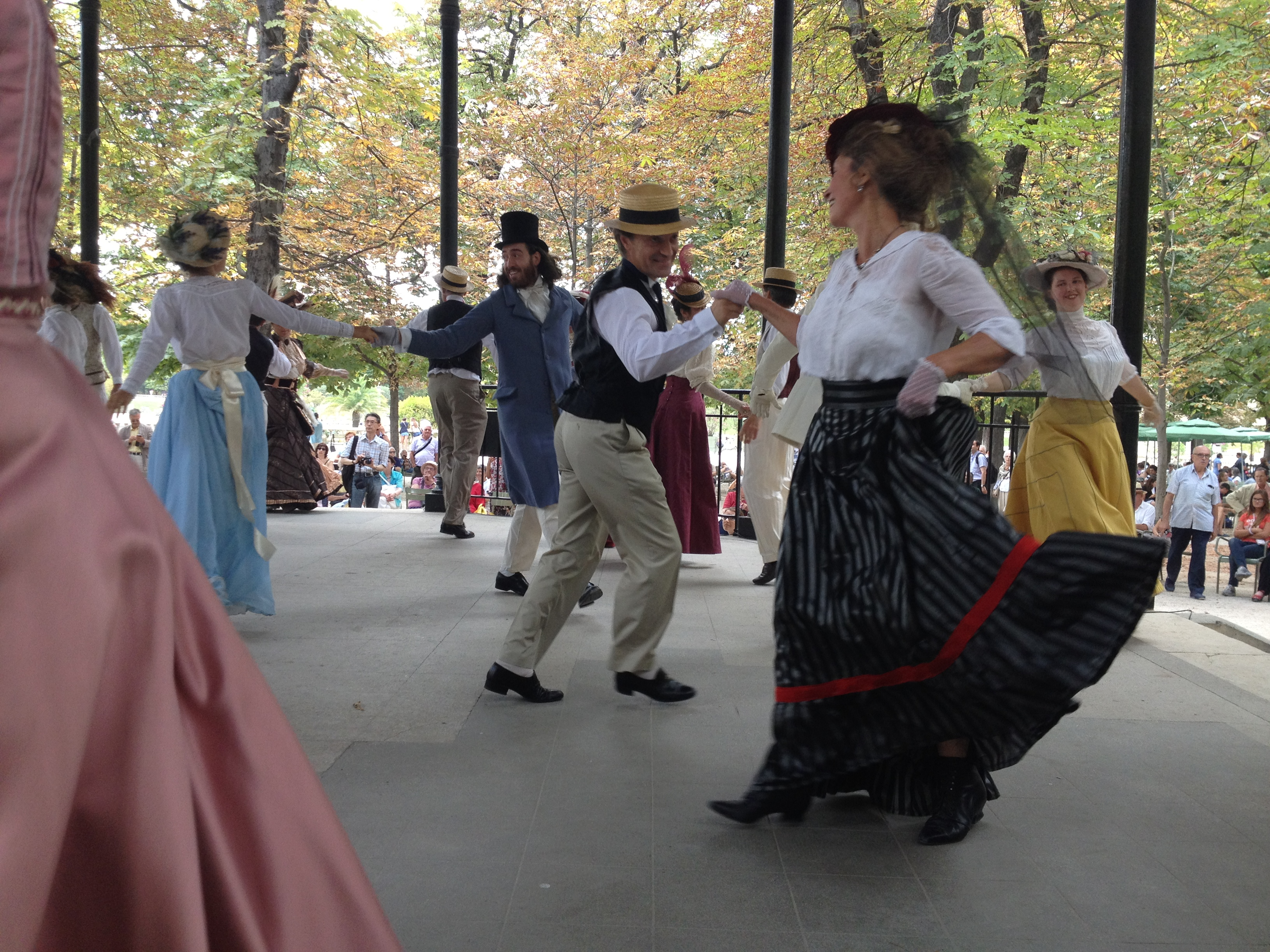 Dancing at the Jardin du Luxembourg, Paris